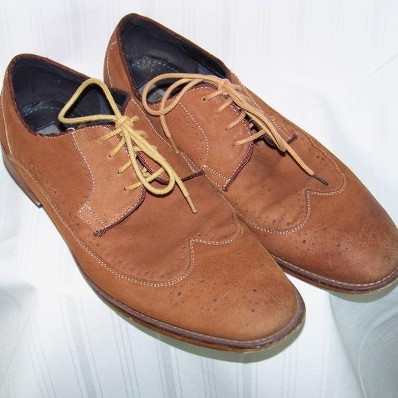 8b315d86c6c STEVE MADDEN Leather Oxford 13 KERMAN Shoe TAN